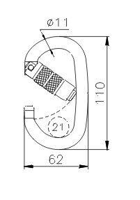 CLIMBING TECHNOLOGY Pillar TG OK bajonettzáras karabiner