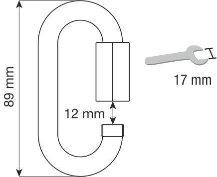 CAMP rozsdamentes anyagú maillon 10mm