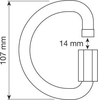 CAMP alu D maillon 12mm