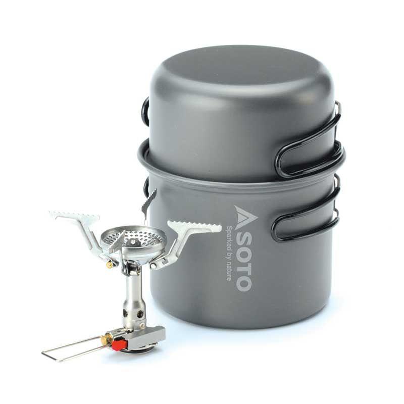 SOTO Amicus + Combo gázfőző fej edénnyel