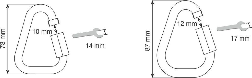 CAMP 8mm delta rozsdamentes anyagú maillon